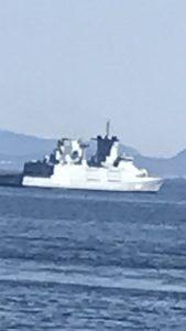 Kystvaktskip som passer på